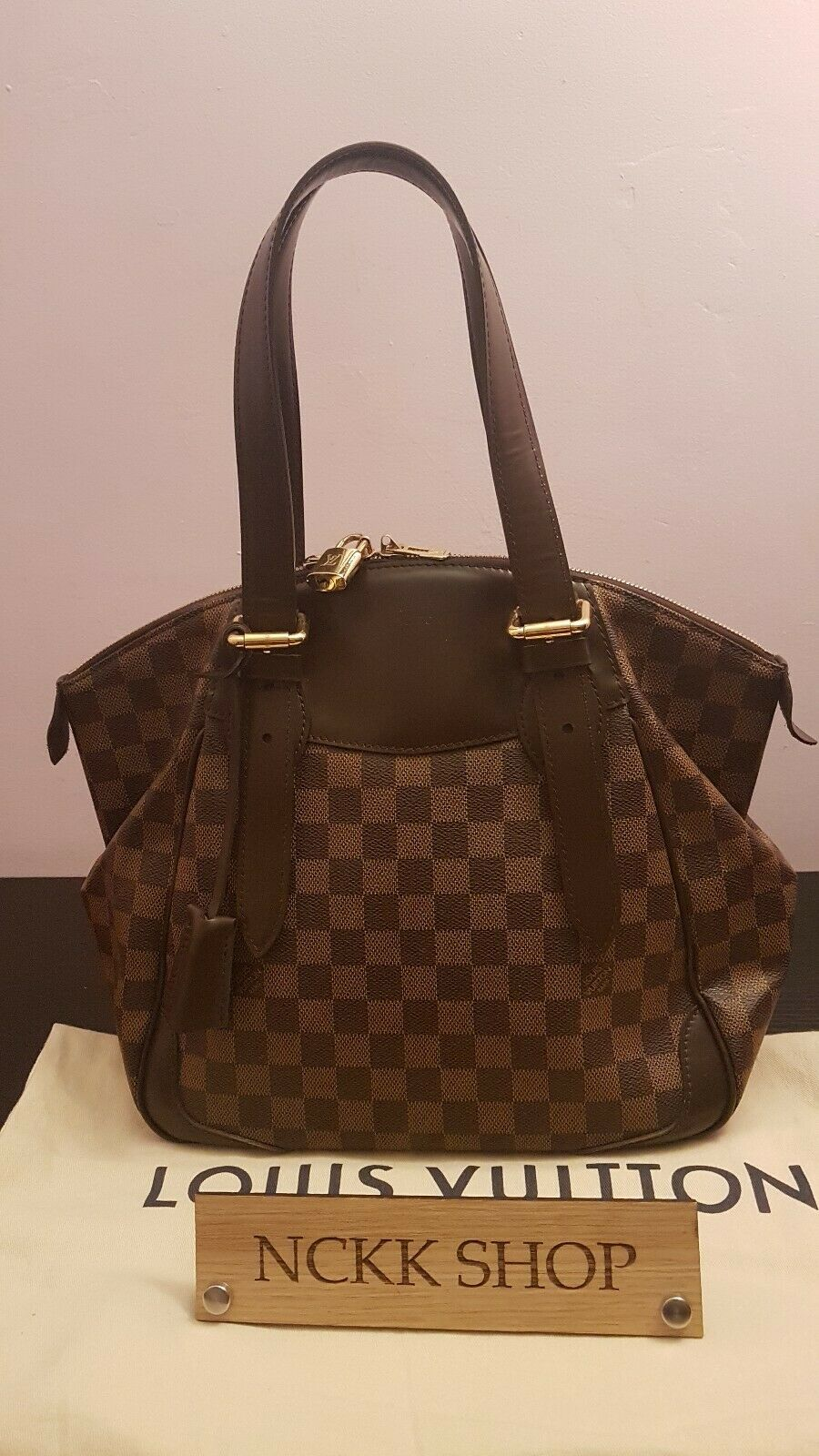 Authentic Louis Vuitton Verona MM Damier Ebene Canvas Schultertasche - 1.045.11,Kaufpreis 1,05,datum 01.07.2020 22:12:38,Website ebay.de
