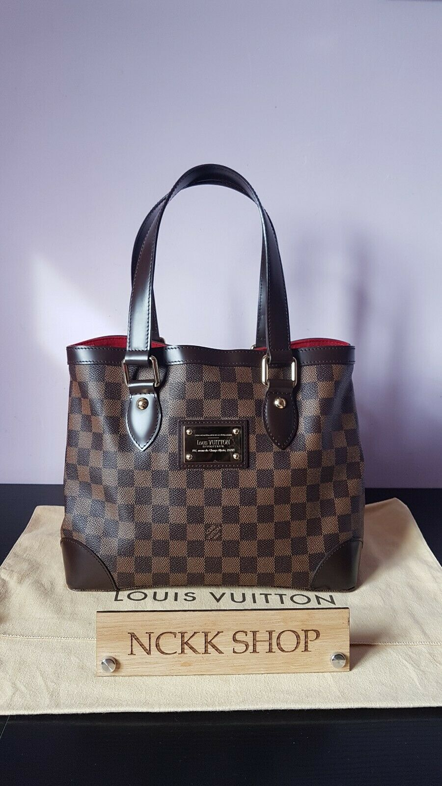 Louis Vuitton Hampstead PM Damier Ebene Canvas Schultertasche/Handtasche n51205 - 935.10,Kaufpreis 935,1,datum 01.07.2020 22:12:38,Website rebelle.com